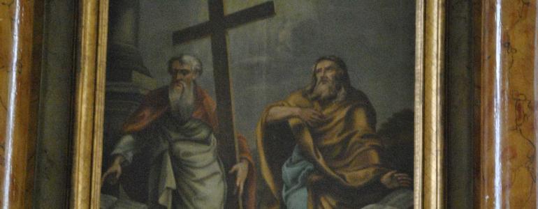 RETABULUM hlavní oltáře sv.Filipa a Jakuba - Dobratice